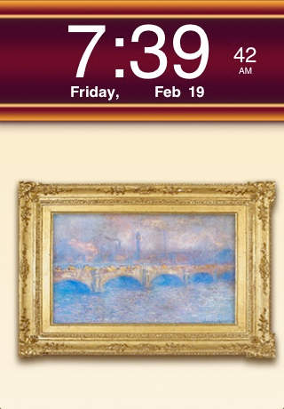 Clockscapes Claude Monet - Animated Clock Display screenshot 1