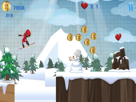 A Stickman Snowboard Racer PRO - Full Snowboarding Mayhem Version screenshot 6