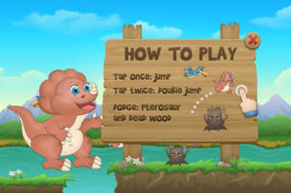 Baby Dino Run - Fun Running Dinosaur Kids Game screenshot 2
