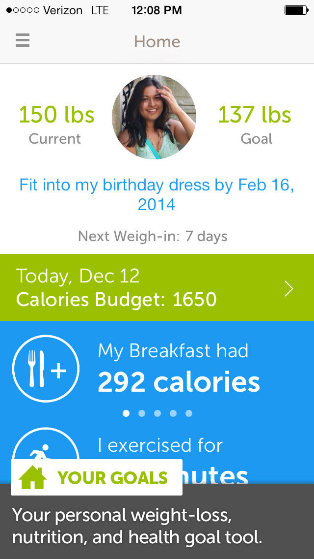 Calorie Counter,Dining Out,Food,Exercise screenshot 1