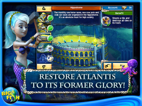 Jewel Legends: Atlantis HD - A Match 3 Puzzle Adventure screenshot 1