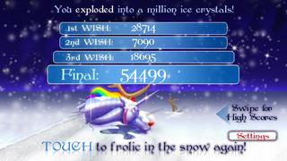 Robot Unicorn Attack Christmas Edition screenshot #5