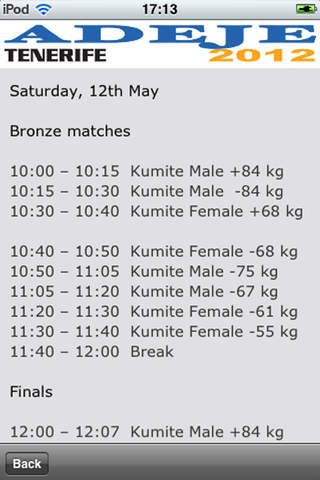 EUROPEAN SENIOR KARATE CHAMPIONSHIP 2012 / SHOPING AREA ADEJE 2012 screenshot 4