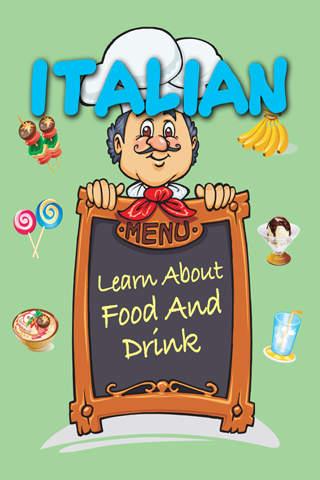Learn Italian - Food And Drink screenshot 1