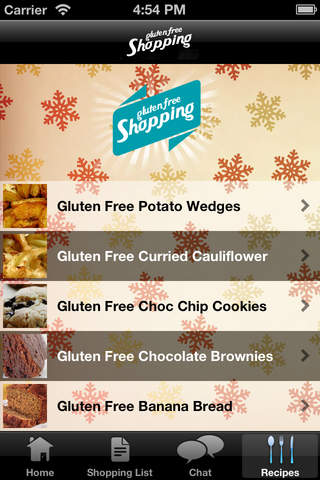 Gluten Free Shopping List & Recipes screenshot 4