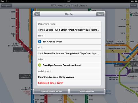 New York Subway for iPad screenshot 3