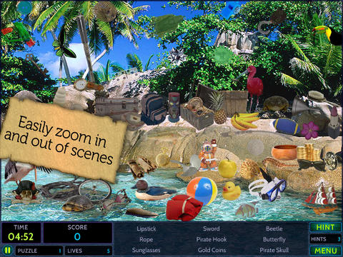 Hideaways: Lost Island HD - Fun Seek and Find Hidden Object Puzzles screenshot 4
