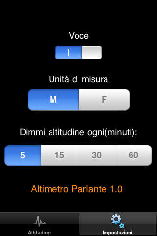 Altimetro Parlante screenshot 2