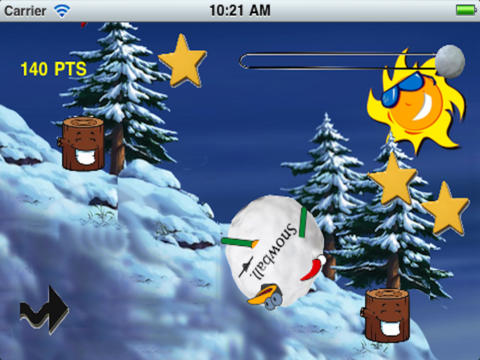 Amazing Skiing Bird Free: Christmas Special Game screenshot 9