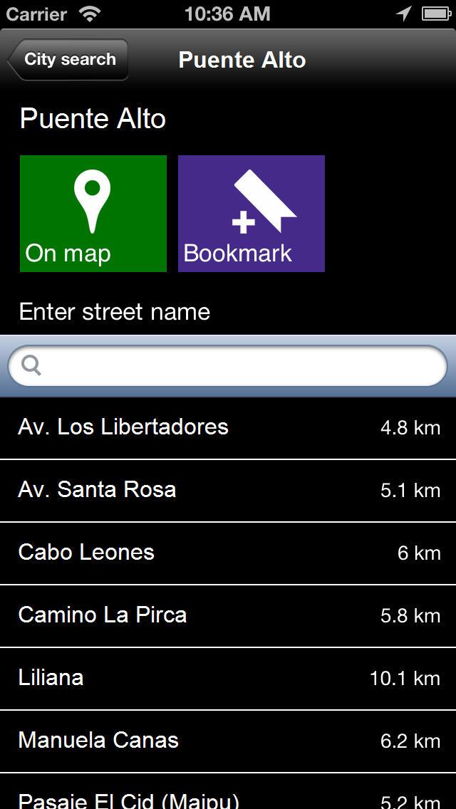 Offline Santiago, Chile Map - World Offline Maps screenshot 5