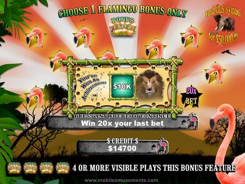 Flamingo Jungle Safari Slots FREE screenshot 8