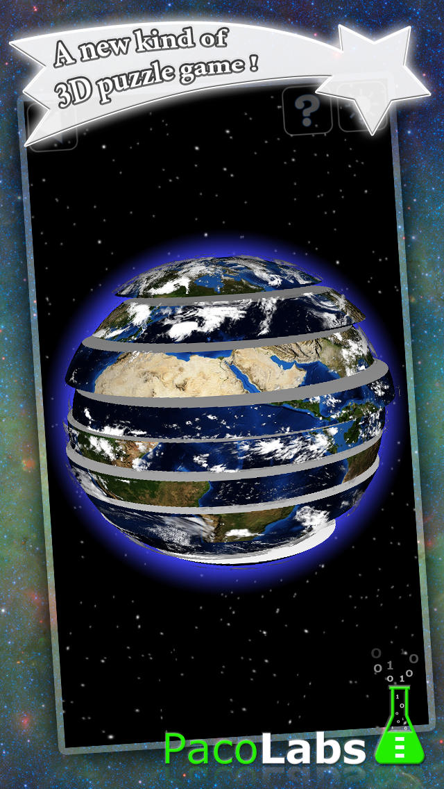 Earth Puzzle - a spherical puzzle game in 3D screenshot 1