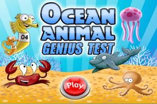 An Ocean Animal Genius Test - Free HD Animal Game screenshot 1