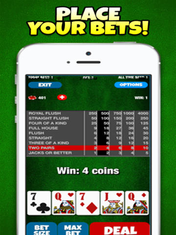 Best Bet Video Poker - Players Club Edition screenshot 4