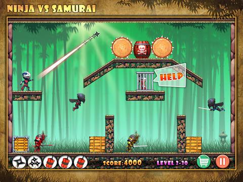 Angry Ninja HD screenshot 1