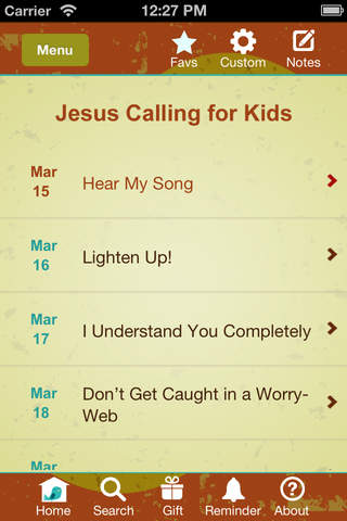 Jesus Calling for Kids Devotional by Sarah Young screenshot 1