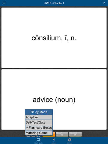 Latin for the New Millennium Level 2 Vocabulary Flashcards screenshot 8