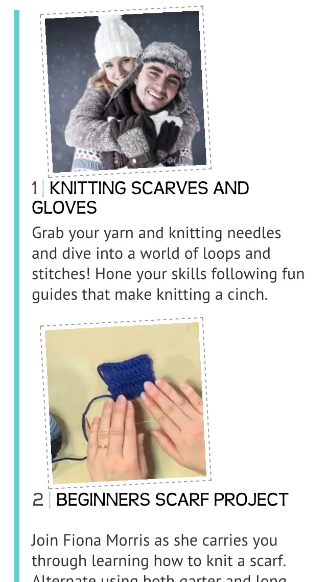 Knitting Scarves & Gloves screenshot 2