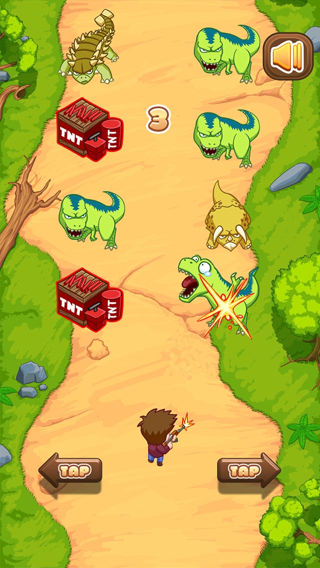 Action Dino Gun Run: Jurassic Shooting Dinosaurs screenshot 1