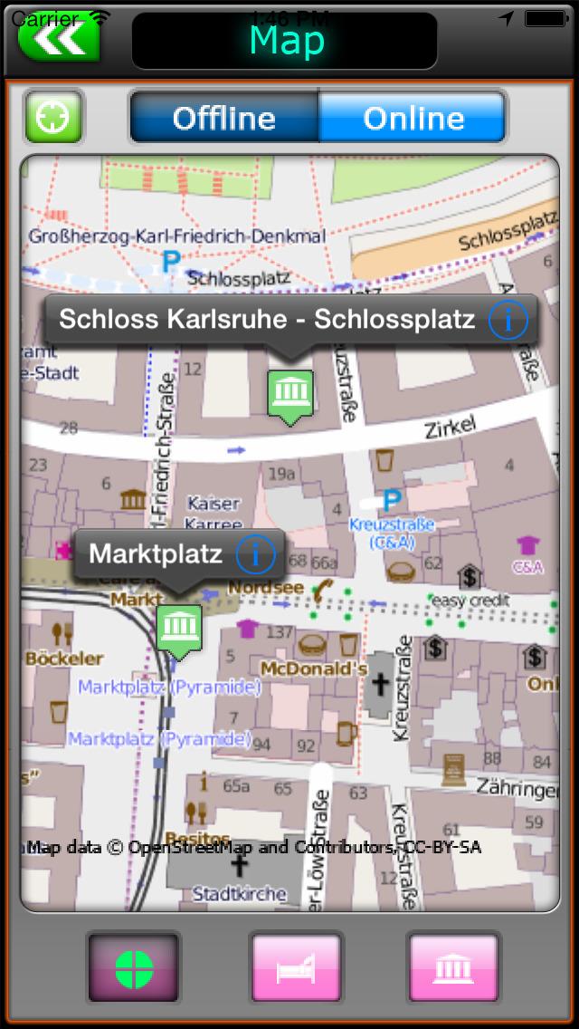 Karlsruhe Offline Map Travel Guide screenshot 2