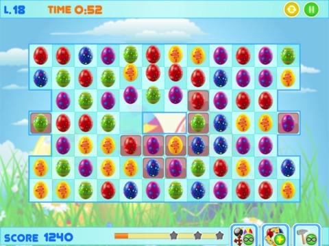 Easter Bunny Eggs - Free Match-3 Chocolate Egg Hunt screenshot 5