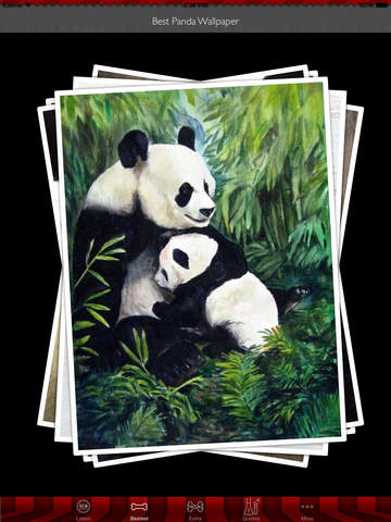 Best HD Panda Art Wallpapers for iOS 8 Backgrounds: Animal Theme Pictures Collection screenshot 9