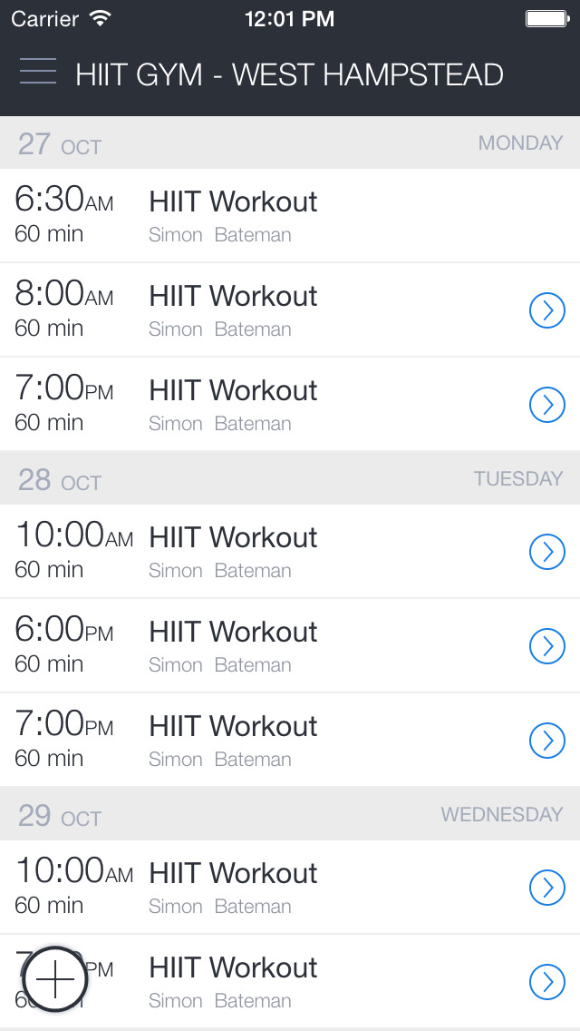 HIIT GYM screenshot 3