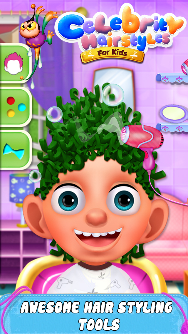 Celebrity Hair Style For Kids screenshot 1