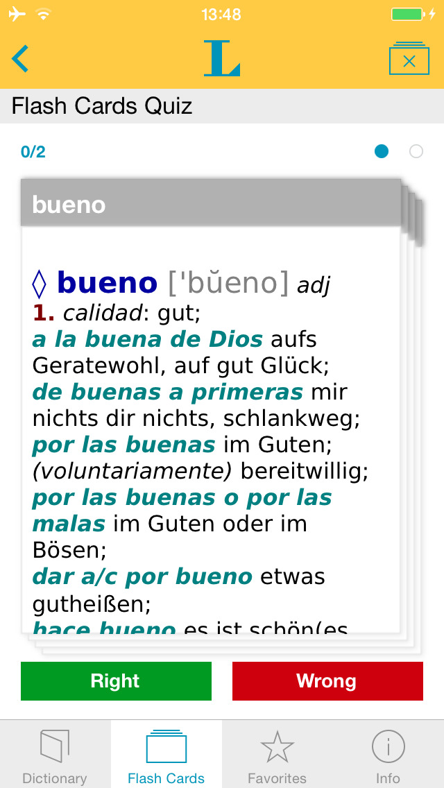 Big German Spanish Dictionary screenshot 3