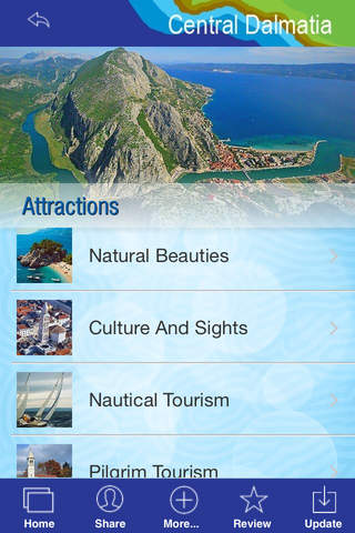 Central Dalmatia - The Official Travel Guide - náhled