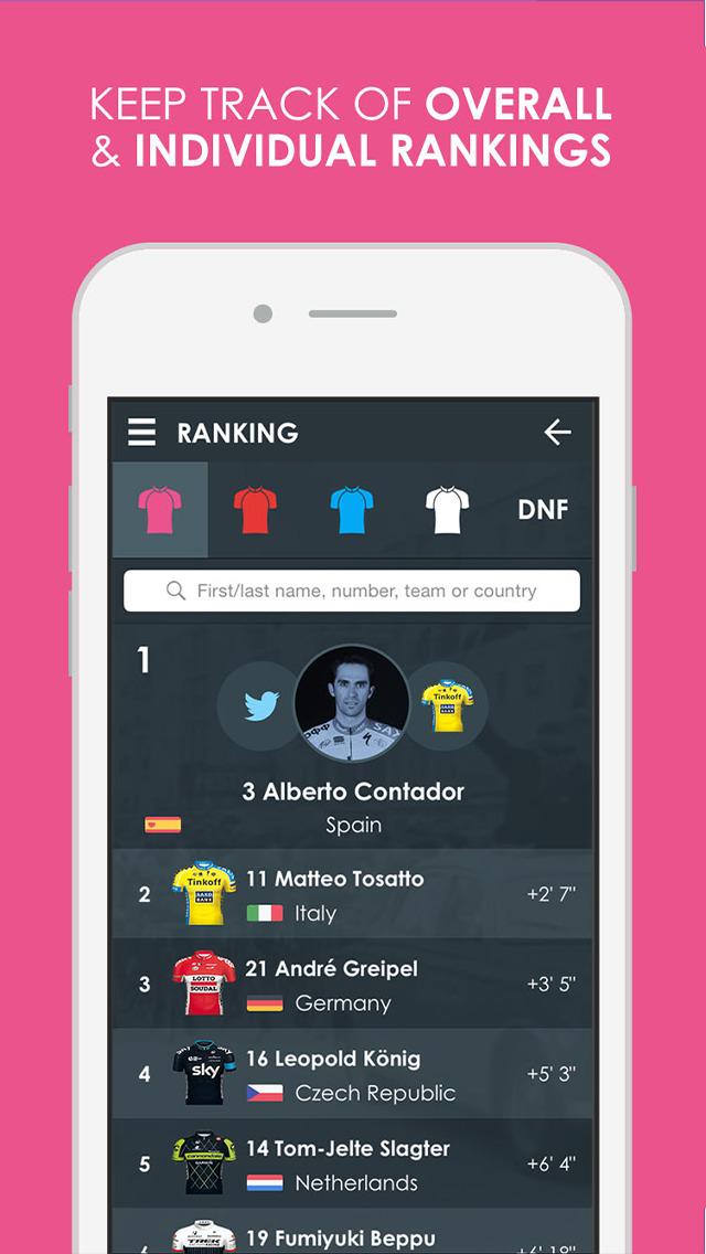 Giro d'Italia 2015 edition Pro - Cycling Tour App screenshot 2