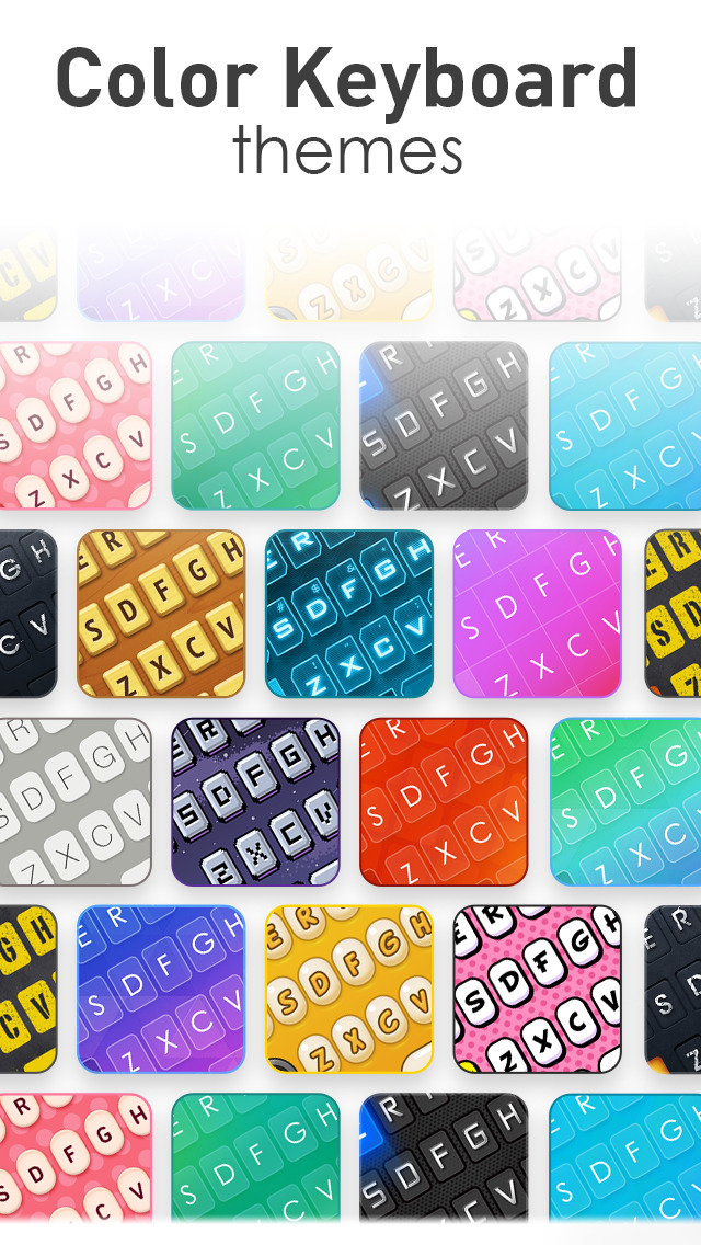 New Emoji & Fonts - RainbowKey screenshot 1