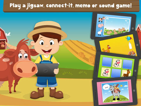 Milo's Free Mini Games for a wippersnapper - Barn and Farm Animals Cartoon screenshot 7