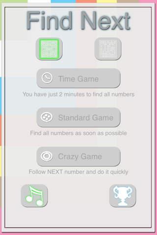 Find Next Number - náhled