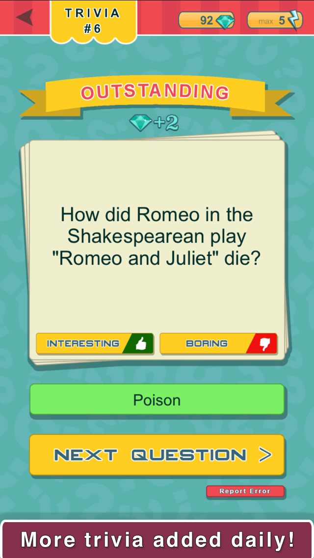 Trivia Quest™ Literatures - trivia questions screenshot 2