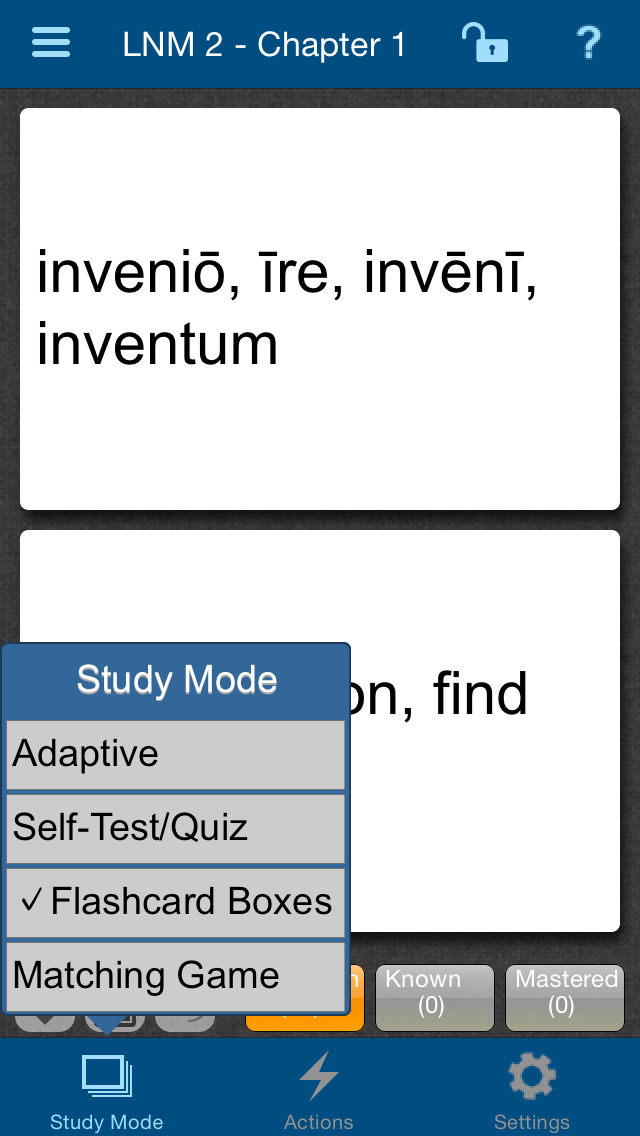 Latin for the New Millennium Level 2 Vocabulary Flashcards screenshot 3