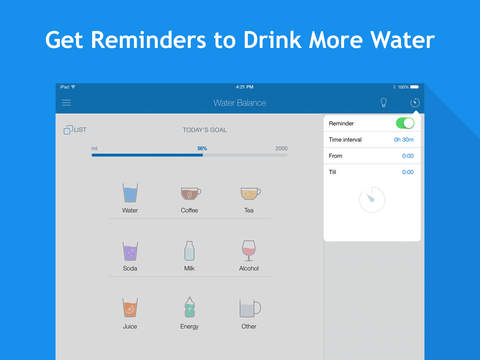 Water Balance: hydration and drinking tracker with goals and reminders screenshot #4