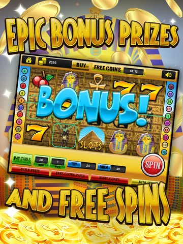 Ace Slots Pharaoh's Gold - Jackpot Kingdom Journey Slot Machine Games HD screenshot 9