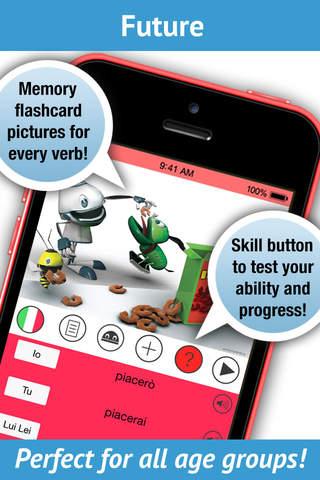 Learn Italian Verbs Pro - LearnBots - náhled