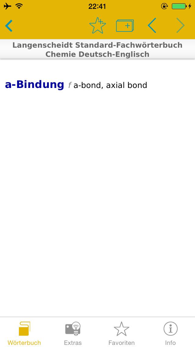Chemie Englisch<->Deutsch Fachwörterbuch Standard screenshot 2