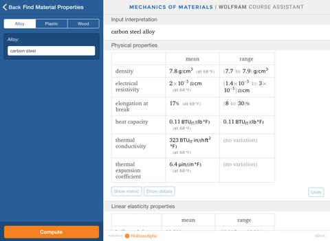 Wolfram Mechanics of Materials Course Assistant screenshot 8