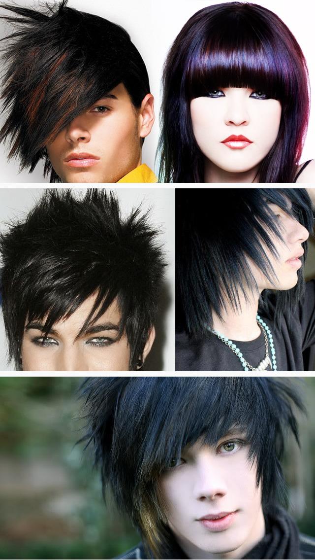 Emo Hair Art Designs, Men & Women Hairstyles Pics screenshot 3