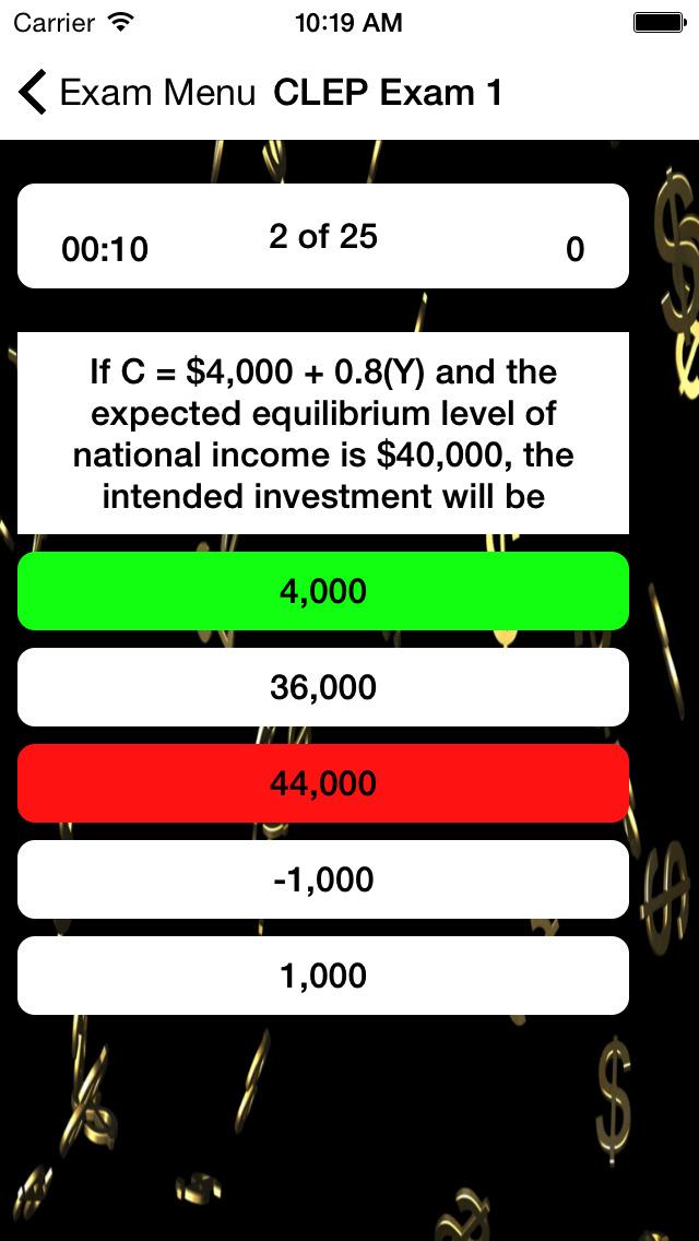 CLEP Macroeconomics Buddy screenshot 3