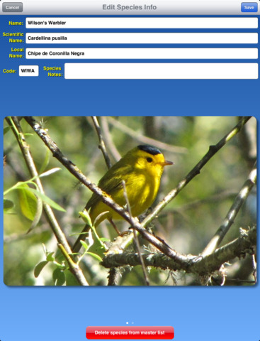 Birdwatcher's Diary for iPad - náhled
