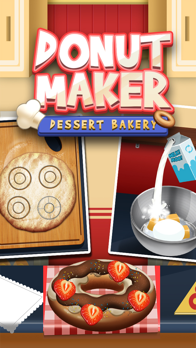 Awesome Donut Ice Cream Cake Breakfast Shop Maker screenshot 1