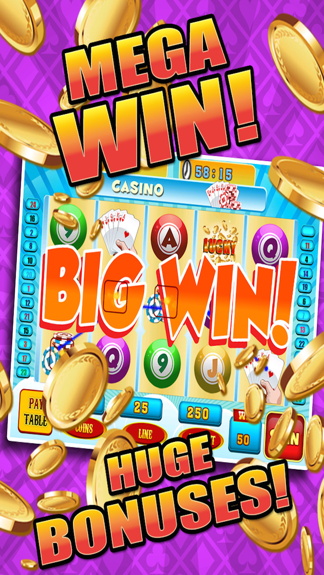 Aces Bingo Slots Casino - Crazy Fun Vegas-Style Super Bingo Slot Machine Games HD screenshot 3