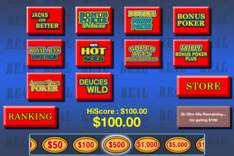 Video Poker plus HD - náhled