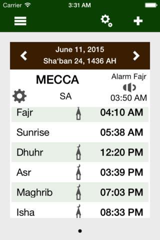 Prayer times ® Muslim Toolbox - náhled