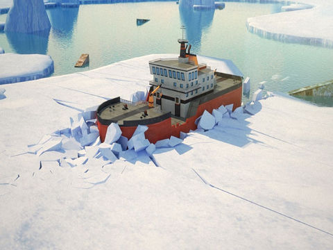3D Icebreaker Parking PRO - Full Boat Driving Simulation Race Version screenshot 6