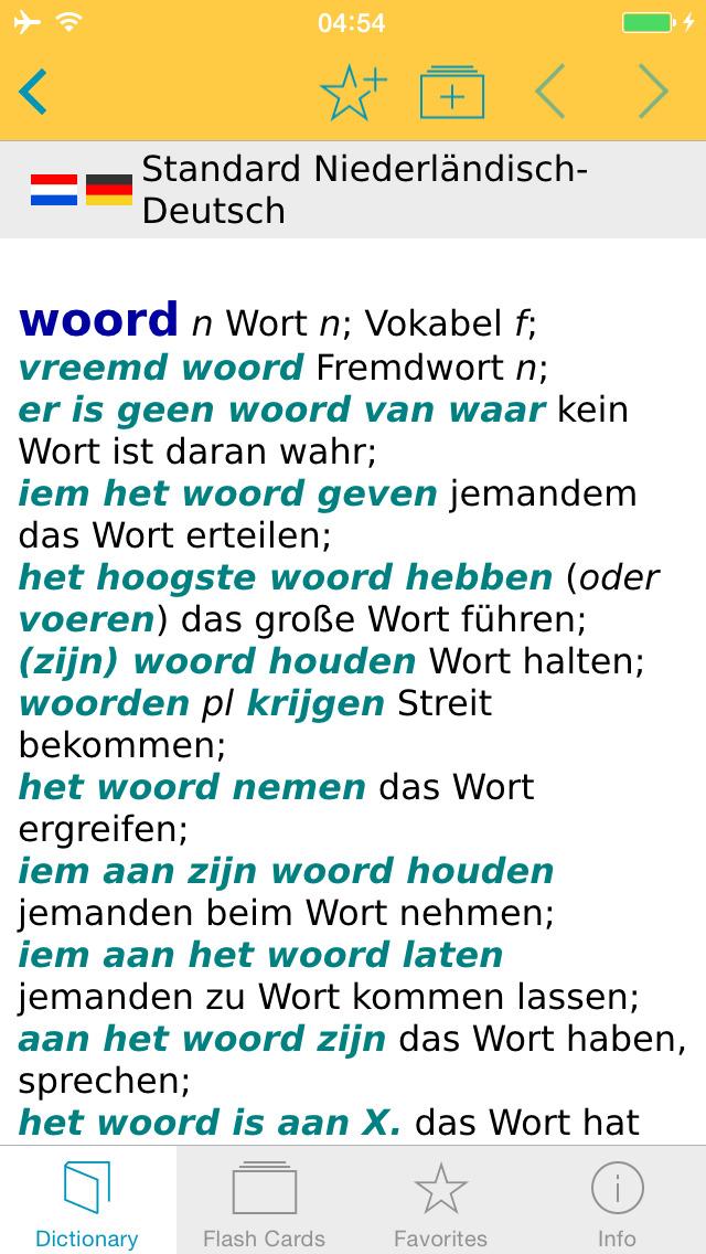 German - Dutch Dictionary screenshot 1